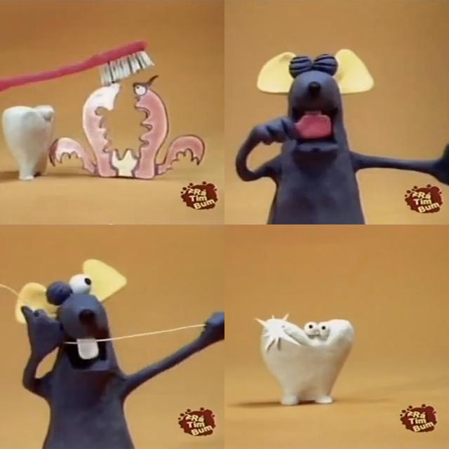 Aprendendo a escovar os dentes com o Ratinho do Castelo Ra Tim Bum